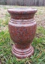 "Turned Round Granite Vase India Red  (5.5""x9"")"