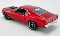 1970 FORD BOSS 429 MUSTANG STREET FIGHTER RED LTD 1/18 DIECAST CAR ACME A1801836
