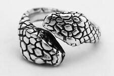 Turkish Jewelry Double Predator Cobra Snake 925 Sterling Silver Men's Ring 9.5