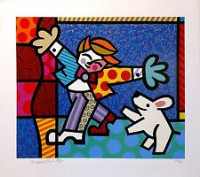 "ROMERO BRITTO ""BRENDAN AND THE WISHING DOG"" 1196 