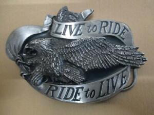 Harley-Davidson, live to ride, belt buckle, vintage