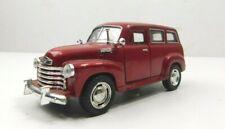Kinsmart 1950 Burgandy Chevy Suburban 1:36 Scale Diecast Classic