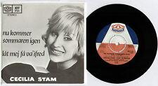 """[BEE GEES] Cecilia Stam ~ nu Kommer sommaren Igen ~ 1968 SUÉDOIS Unique 7"""" + P/S"""