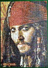 Pirates of the Caribbean Jigsaw Puzzle Depp Photomosaics 300 Large Pcs + Poster