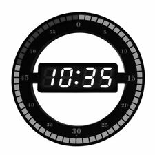 Digital Led Electronic Wall Clock Simple Night Glow Round Desktop Table Clocks