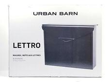 Urban Barn Lettro Wall Mount Security Locking Mailbox Letter Newspaper Magazine