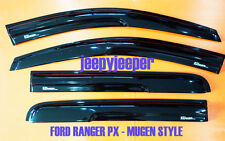 @MU FORD RANGER PX SIDE VISOR RAIN SHIELD WIND DEFLECTOR GUARD DOUBLE SUPER CAB