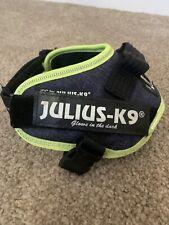 Julius-K9 IDC Power Harness Denim Neon Trim Size Mini-Mini
