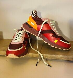 MICHAEL KORS Men's Miles Merlot Leather Trainer Sneakers Shoes 8.5 (EU 41.5)