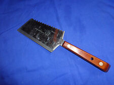 Robeson Cleaver Knife Meat Tenderizer ShurEdge Stainless Wood Full Tang Vtg NICE