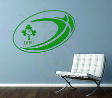 Rugby Ball Ireland  Deco Irish Vinyl Wall Sport Art Sticker Decal Bedroom