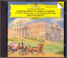 Melos quartetto: Beethoven String Quartet op.59/1, 74 Harp quartetto PDO CD