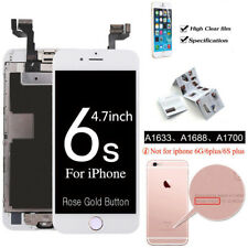 "Rose Gold iPhone 6S Plus 5.5"" LCD Touch Screen Digitizer Home Button Replacement"