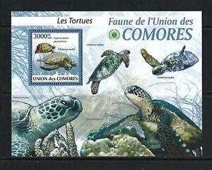 Comoros 2009 Mi#2345 Block 512   Turtles   MNH Souvenir Sheet $17.25