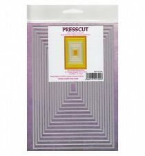 Presscut Cutting Die Set Embossing Stencils - Nesting Rectangles - PCD49 - 16pcs