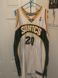 Reebok Authentic Vintage Gary Payton Seattle SuperSonics Super Sonics jersey 56