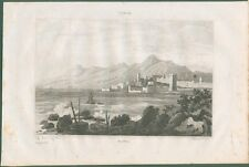 BASTIA. Corsica. Veduta generale dal mare. Da Italie Pittoresque, anno 1836
