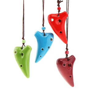 Mini 6 Hole  Alto ToneC Necklace Ocarina Ceramic Ocarina Flute Instrument