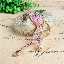Porte clé bijou pour sac à main ou autre - Panthère rose avec strass - Neuf
