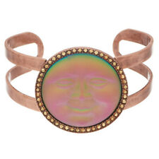 KIRKS FOLLY Seaview Moon Cuff Bracelet   iridis / rose goldtone