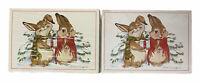 Vintage Current Alton Langford Bunny Love Christmas Postcards Lot of 2 Packages