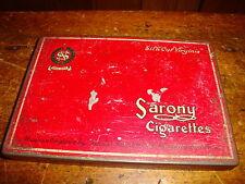 Vintage Sarony Cigarette Tin Made in England Nicolas & Co Picadilly Lincoln