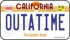 Back to the Future / Delorean / OUTATIME REFRIGERATOR  MAGNET LICENSE PLATE