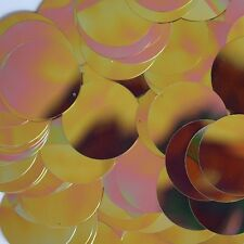 30mm Flat Round SEQUIN PAILLETTES ~ Rose Gold Metallic Rainbow Iris Iridescent