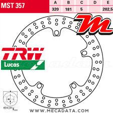 Disque de frein Avant TRW Lucas MST 357 BMW R 850 RT Intergral ABS (R22) 2001