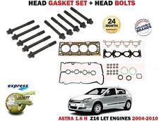 FOR OPEL VAUXHALL ASTRA H 1.6 180BHP 2004-2010 HEAD GASKET SET + HEAD BOLT KIT