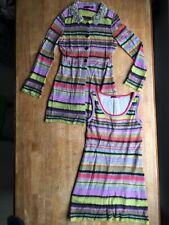 Marc Cain Wool Mohair Dress Cardigan Set Size 8 / 10 Boho Hippy Knit Lined
