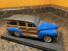 Blue 1941 Ford Woody 1:25 Model Kit Adult Built With Display Case