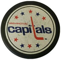 WASHINGTON CAPITALS NHL VICEROY MFG. OFFICIAL HOCKEY PUCK made in 🇨🇦 VINTAGE