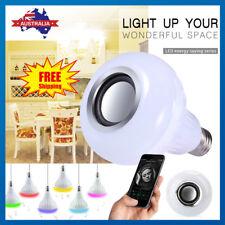 B22 LED Bluetooth Wireless Globe Light Bulb 12w Music Speaker Remote Control AU