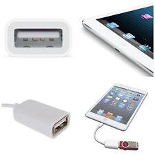 White USB Camera Adapter Connector OTG Cable for iPad 4 / iPad Mini xp