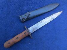 Ww2 Original Vintage Italian Fascist Fighting Knife And Scabbard