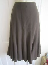 Ladies size 14 BHS chocolate brown long flared lined winter skirt