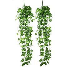 2 st. Kunstpflanzen Anhänger Girlande 2.5m künstlichen grünen Efeu Blätter Dekor
