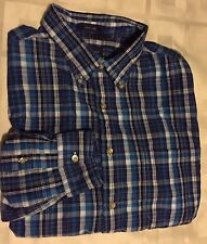 Saddlebred Men's Big and Tall Long Sleeve Check Western Easy Care Shirt Size L T