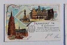 26648 Litho AK Frankfurt Gesangwettstreit Deut. Männer-Gesangsvereine 1903 Dom