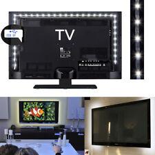 LED TV Backlight Bias Lighting USB Flexible LED Light Strip White PC Monitor 2m