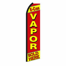 E Cigs Vapor Advertising Sign Swooper Feather Flutter Banner Flag Only