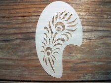 Tribal Peacock Feather Face Paint Festival Party Stencil approx 12cm x 8cm