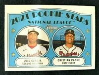 2021 Topps Heritage Cristian Pache RC French Text Variation SP #109 Luis Garcia