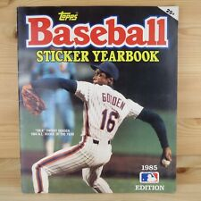 1985 TOPPS BASEBALL STICKER YEARBOOK ALBUM - 100% COMPLETE SET WITH ALL STICKERS