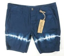 NEW ORIGINAL PAPERBACKS NAVY VINTAGE WASH NAPA TIE DYE CHINO SHORTS SIZE 36
