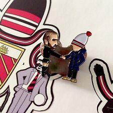 Man Utd's Eric 'Cantona & Fan' Pin Badge. Rosso Bianco Nero & A Guy Called Minty