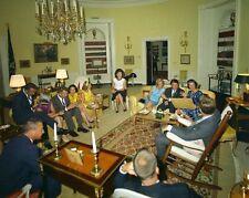 President John F. Kennedy and Jackie meet with Mercury astronauts New 8x10 Photo