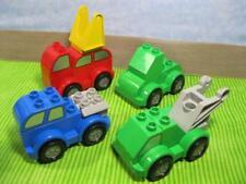 MODERN LEGO Duplo lot set of 4 CAR/TRUCK VEHICLES TOW BAR/WINDOWS PLAYSET