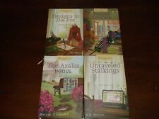 4 Annie's Mysteries Unraveled Books HBDJ With Ribbon Bookmarks VGC